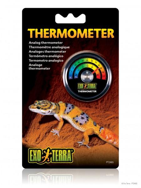 Exoterra Thermometer analog rund