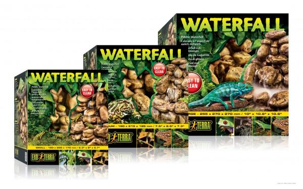 Exoterra Wasserfall Kiesel mit Pumpe