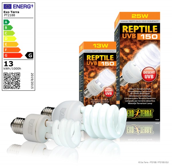 Exoterra Reptile UVB 150, Kompaktlampe
