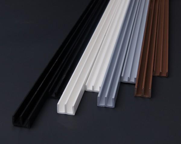 Glasführungsschienen/ E Profile 6 mm Glasstärke/ Glasführungsprofile