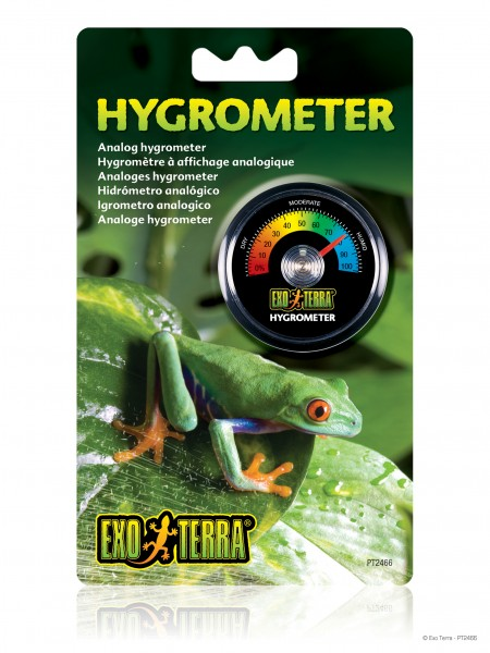Exoterra Hygrometer analog rund
